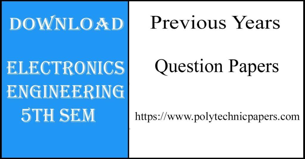 Electronics engineering 5th sem