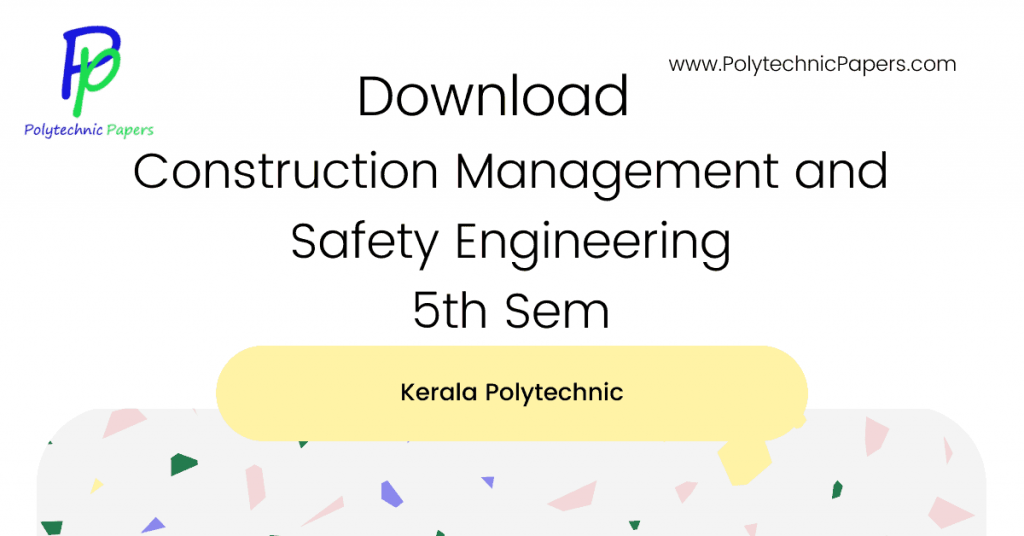 Construction Management and Safety Engineering 5th Sem